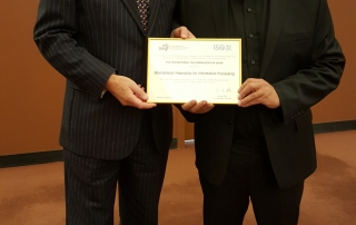Stephen Ibaraki with ITU Deputy Secretary-General, Malcolm Johnson at UN WSIS+10