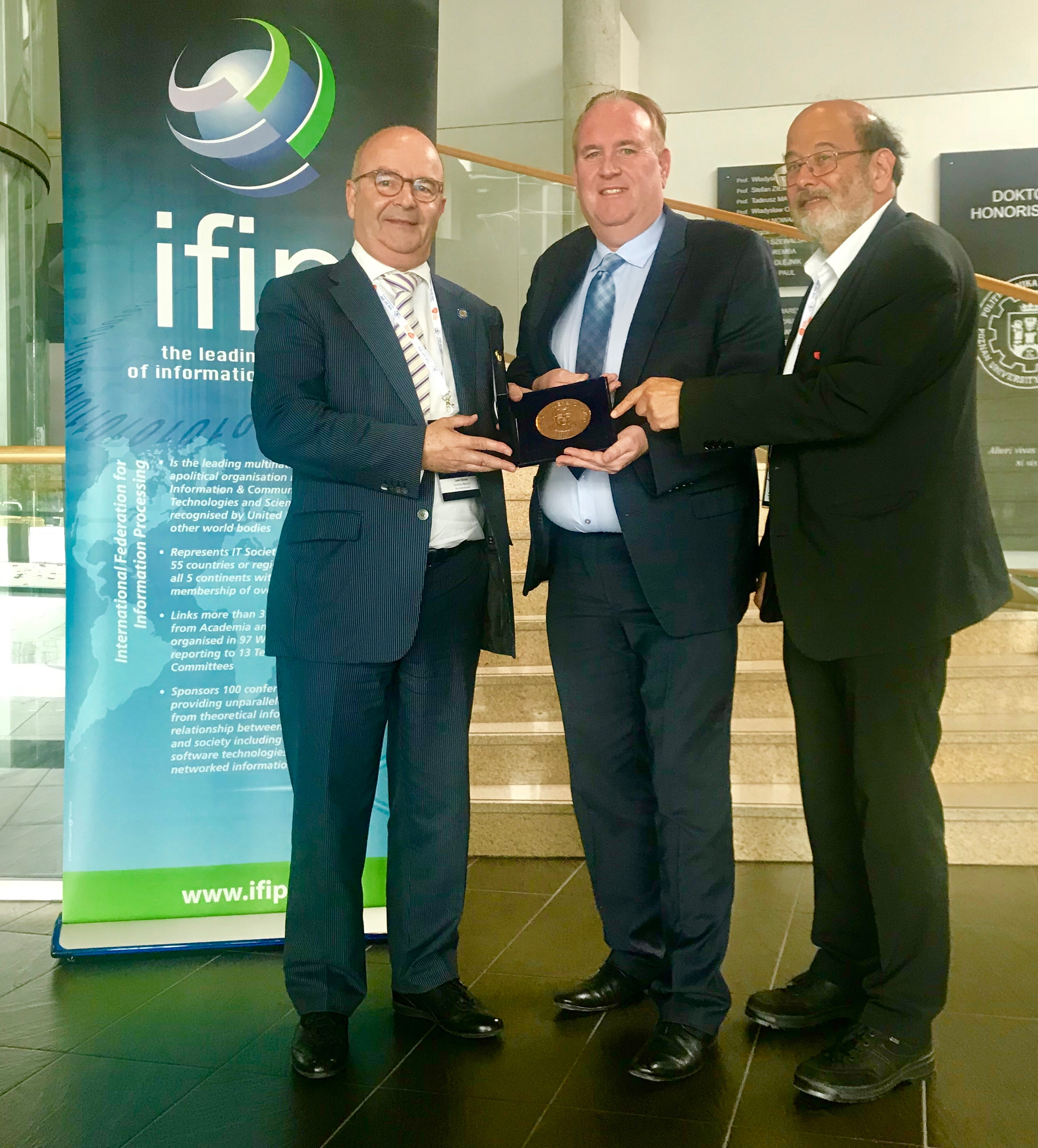 Leon Strous Receives IFIP's Highest Honour